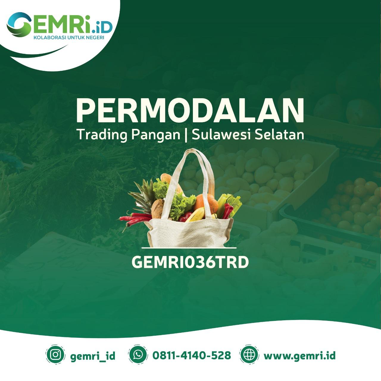 Permodalan Trading Pangan Sulawesi Selatan